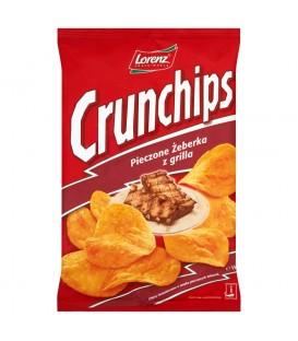 Crunchips Pieczone żeberka z grilla Chipsy ziemniaczane 150 g