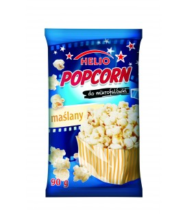 Popcorn do mikrofalówki maślany 90 g Helio