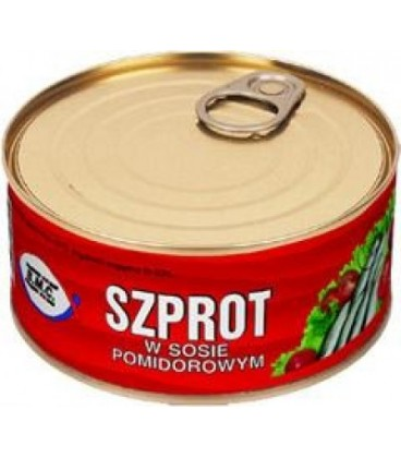 BMC310g szprot w sosie pomidorowym