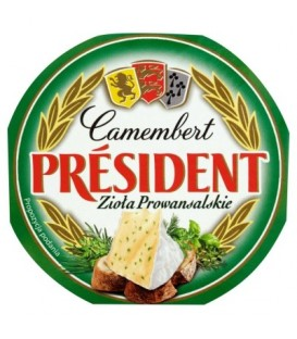 Camembert President zioła prowansalskie 120g ser