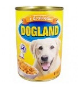 Dogland drobiowe dla psa puszka 415g