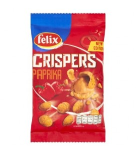 Felix Crispers Orzeszki ziemne smażone w chrupkiej skorupce o smaku paprykowym 70 g
