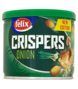Felix Crispers Orzeszki ziemne smażone w chrupkiej skorupce o smaku cebulowym 110 g