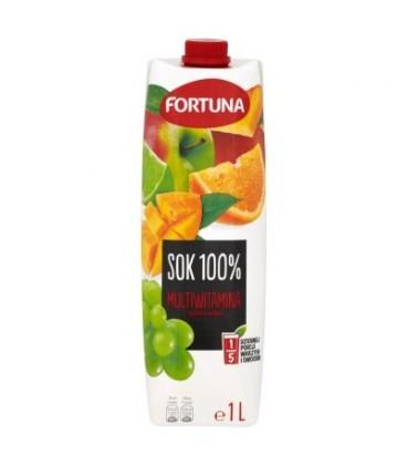 Fortuna Multiwitamina z dodatkiem witamin Sok 100% 1 l