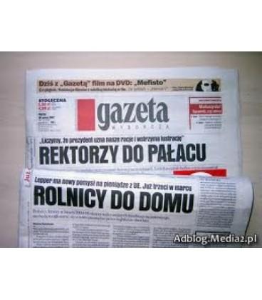 Gazeta Wyborcza +dod 2,00