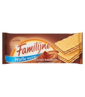 Familijne Wafle o smaku kakaowym 8x180g