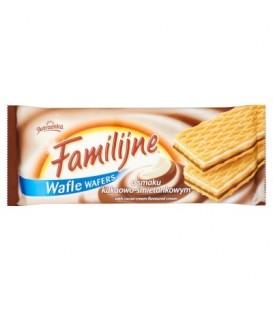 Familijne Wafle o smaku kakaowo-śmietankowym 8x180g