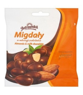 Jutrzenka Migdały w mlecznej czekoladzie 80 g