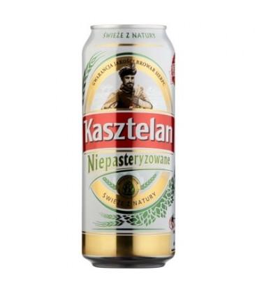 Kasztelan niepasteryzowane puszka 0,5l piwo