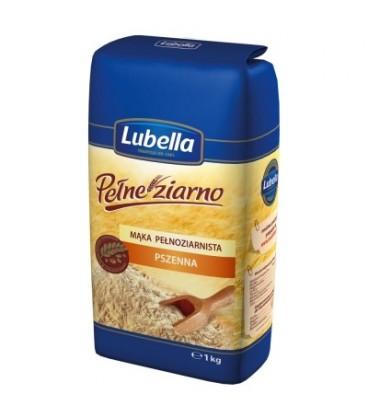 Lubella Pełne Ziarno Mąka pełnoziarnista pszenna 1 kg