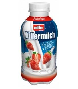 Müller Müllermilch truskawkowy Napój mleczny 400 g