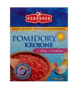 Podravka Pomidory krojone z oliwą i czosnkiem 390 g