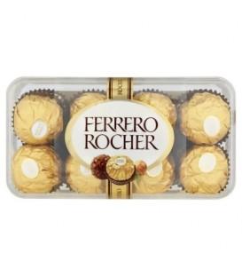 Ferrero Rocher Chrupiący smakołyk z kremowym nadzieniem i orzechem laskowym w czekoladzie 200 g