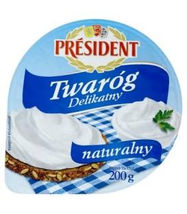 Président Delikatny Twaróg naturalny 200 g