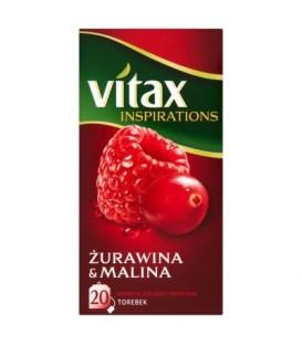 Vitax herbata inspirations żurawina &malina 40g