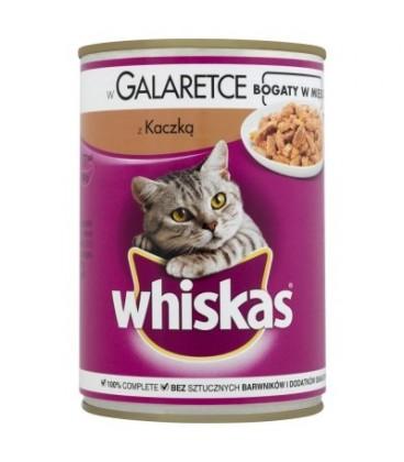 Whiskas z kaczką w galaretce Karma pełnoporcjowa 400 g