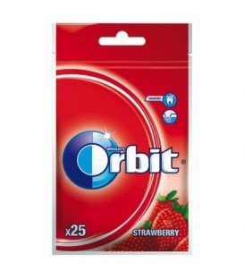 ORBIT WILD STRAWBERRY - 25 DRAŻETEK