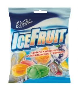 E. Wedel IceFruit Cukierki nadziewane o smaku owocowo-lodowym 90 g
