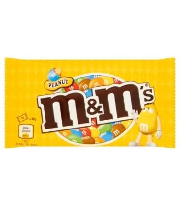 M&M's Peanut Orzeszki ziemne oblane czekoladą w kolorowych skorupkach 45 g