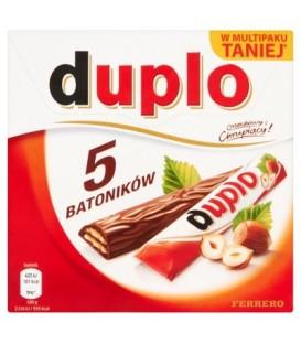 Duplo Wafel z orzechowym nadzieniem pokryty mleczną czekoladą 91 g (5 batoników)