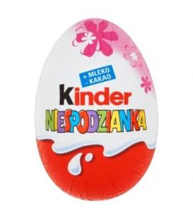 Kinder Różowa Niespodzianka Słodkie jajko z niespodzianką pokryte czekoladą mleczną 20 g