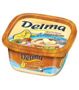 Delma Extra z masłem i szczyptą soli Margaryna 450 g