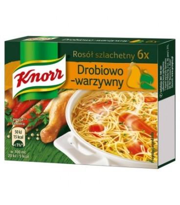 Knorr Rosół szlachetny drobiowo-warzywny 60 g (6 kostek)