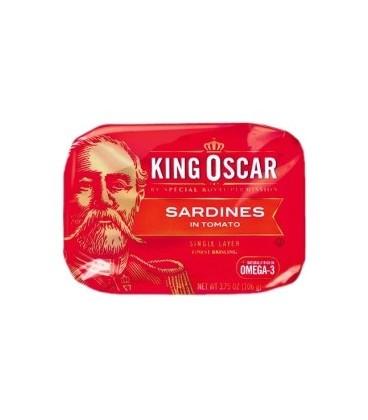 King Oscar Sardynki w sosie pomidorowym 106g