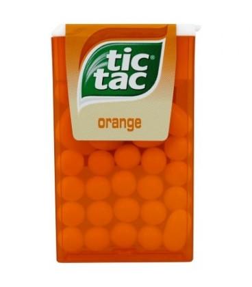 Tic Tac Orange Drażetki o smaku pomarańczowym 18 g