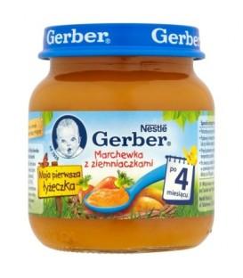 Gerber Moja pierwsza łyżeczka Marchewka z ziemniaczkami po 4 miesiącu 125 g