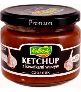 KOTLIŃSKI SPECJAŁ ketchup z kawałkami warzyw-czosnek 310g