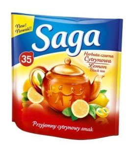 Saga Herbata czarna cytrynowa 45,5 g (35 torebek)