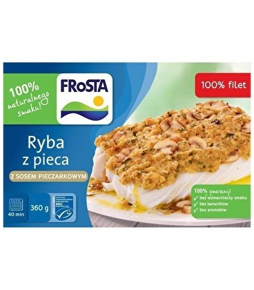 FRoSTA Ryba z pieca z sosem pieczarkowym 360 g