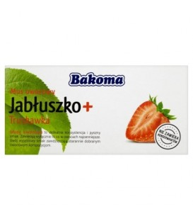 Bakoma Mus owocowy Jabłuszko + Truskawka 200 g (2 sztuki)