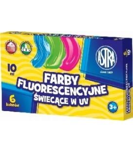 Farby fluorescencyjne 6 kolorów 10ml