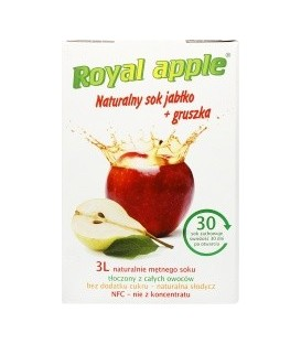 Sok Royal apple jabłko - gruszka 3L
