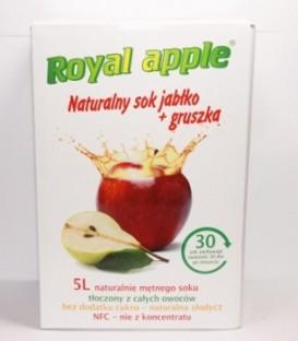 Sok Royal apple jabłko - gruszka 5L