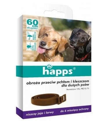 Happs obroża przeciw pchłom i kleszcz.dla duż.psów
