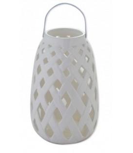 Lampion biały okrągły 19xh29cm