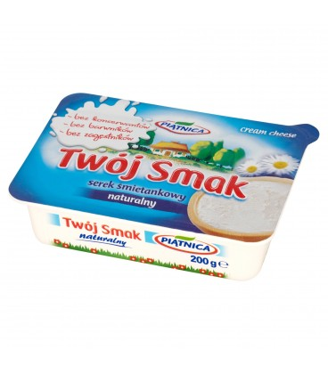 Piątnica Twój Smak Serek śmietankowy naturalny 200 g