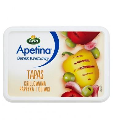 Apetina Tapas Serek kremowy grillowana papryka i oliwki 125 g