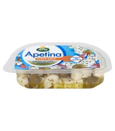 Apetina z zielonymi oliwkami i czosnkiem Ser typu śródziemnomorskiego w zalewie olejowej 100 g