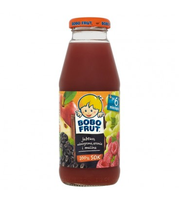 Bobo Frut 100% Sok jabłko winogrona aronia i malina po 6 miesiącu 300 ml