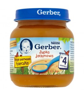 Gerber Moja pierwsza łyżeczka Zupka jarzynowa po 4 miesiącu 125 g