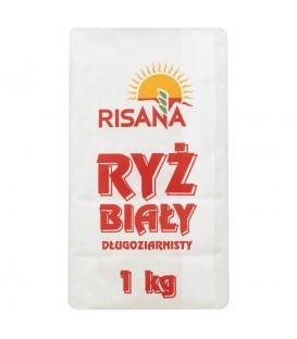 RISANA Ryż biały długoziarnisty 1kg papier