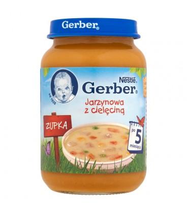 Gerber Zupka Jarzynowa z cielęciną po 5 miesiącu 190 g
