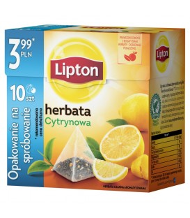 LIPTON PIRAMIDKI LEMON 10TB