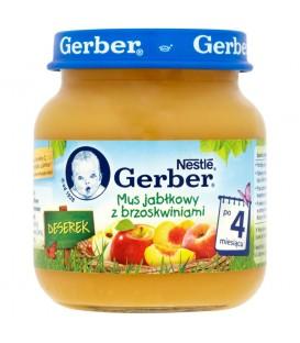 Gerber Deserek Mus jabłkowy z brzoskwiniami po 4 miesiącu 125 g