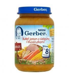Gerber Obiadek Bukiet jarzyn z cielęciną i kluseczkami po 8 miesiącu 190 g