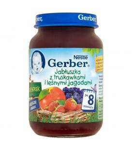 Gerber Deserek Jabłuszka z truskawkami i leśnymi jagodami po 8 miesiącu 190 g